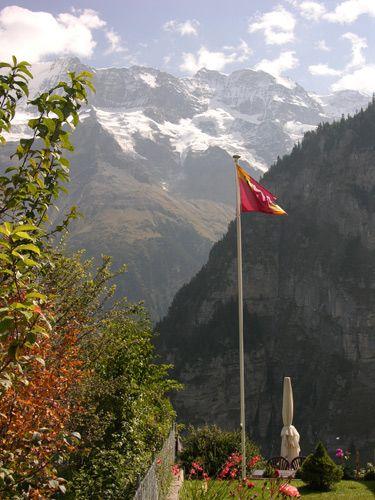 Zdjęcia: Interlaken, Flaga, SZWAJCARIA