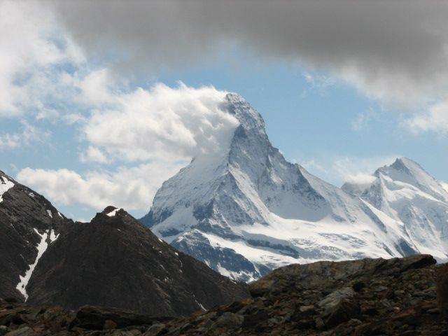Zdjęcia: Alpy Walijskie, Alpy Walijskie, dymiący Matterhorn, SZWAJCARIA