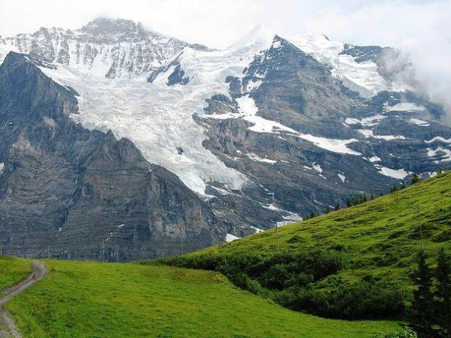 Zdjęcia: Eismeer, Alpy Berneńskie , W drodze na Jungfraujoch, SZWAJCARIA