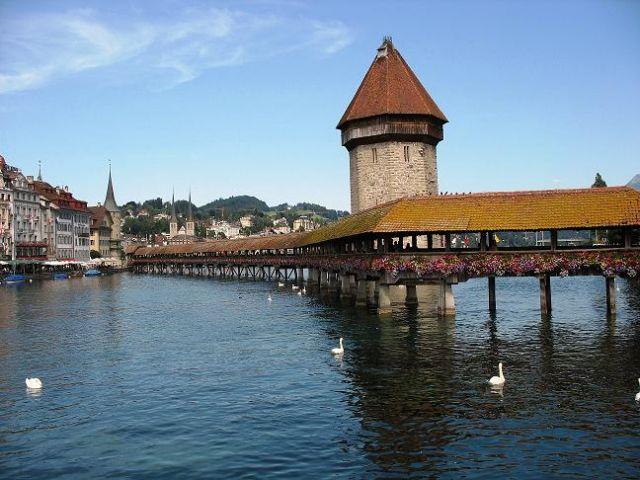 Zdjęcia: Lucerna, Kanton Lucerna, Kapellbrücke, SZWAJCARIA
