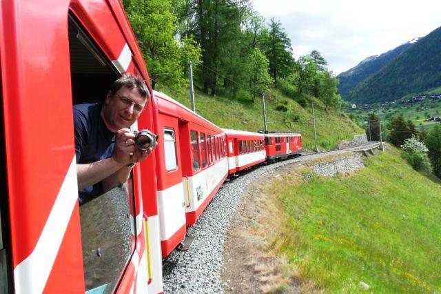 Zdjęcia: Brig - Fiesch, Brig, Kolejka w górach, SZWAJCARIA