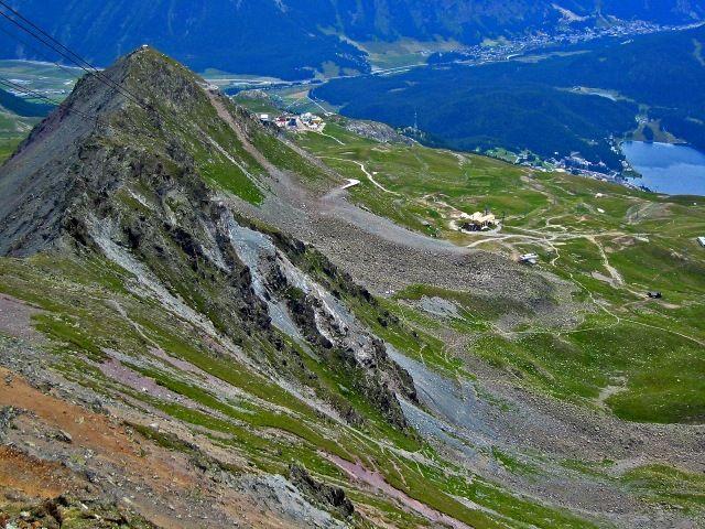 Zdj�cia: St. Moritz - ze szczytu Piz Nair, Widok ze szczytu Piz Nair, SZWAJCARIA