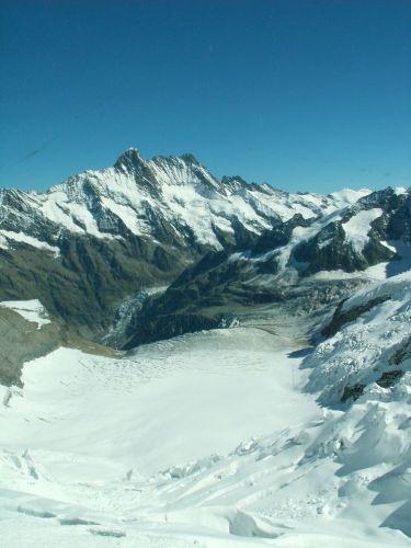 Zdjęcia: droga na Jungfraujoch, Widok z okna widokowe w drodze na Jungfraujoch, SZWAJCARIA