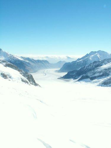 Zdj�cia: Junfraujoch, Najwi�kszy lodowiec - Eigergletscher, SZWAJCARIA