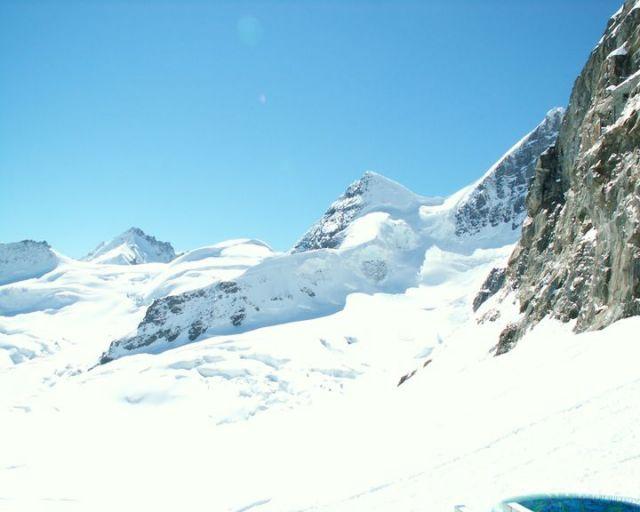 Zdjęcia: Jungfraujoch, Widok na Jungfrau (dziewicę), SZWAJCARIA