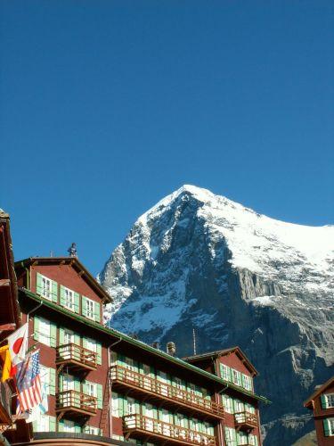 Zdj�cia: Kleine Scheidegg 2061m, Alpinista wysokodachowy, SZWAJCARIA