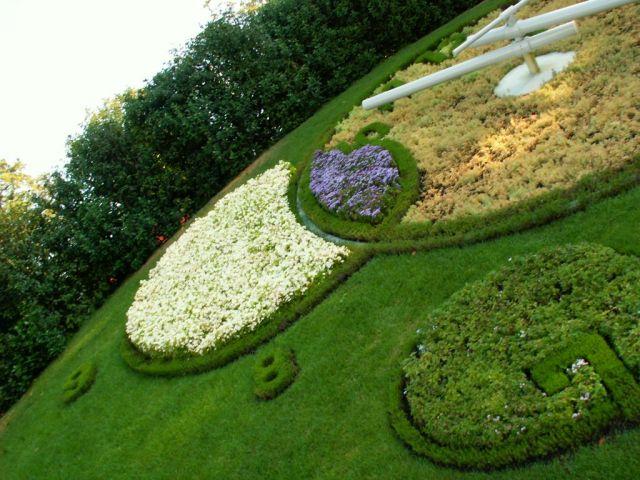 Zdj�cia: Genewa, Zegar kwiatowy, SZWAJCARIA