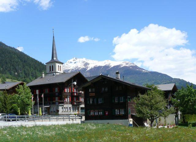 Zdjęcia: Fiesch, alpy, Wieś szwajcarska, SZWAJCARIA