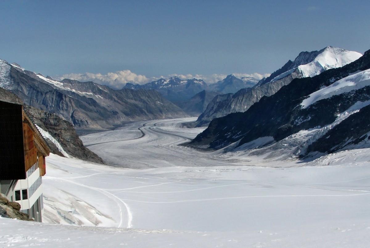 Zdjęcia: Lodowiec Aletsch, Alpy Berneńskie, Z przełęczy Jungfraujoch, SZWAJCARIA