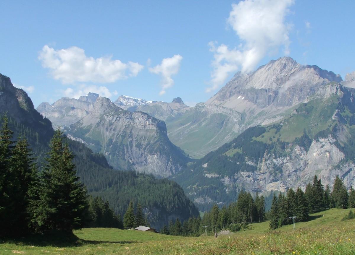 Zdjęcia: Okolice Kandersteg    , Oberland Berneński, Alpejski widok, SZWAJCARIA