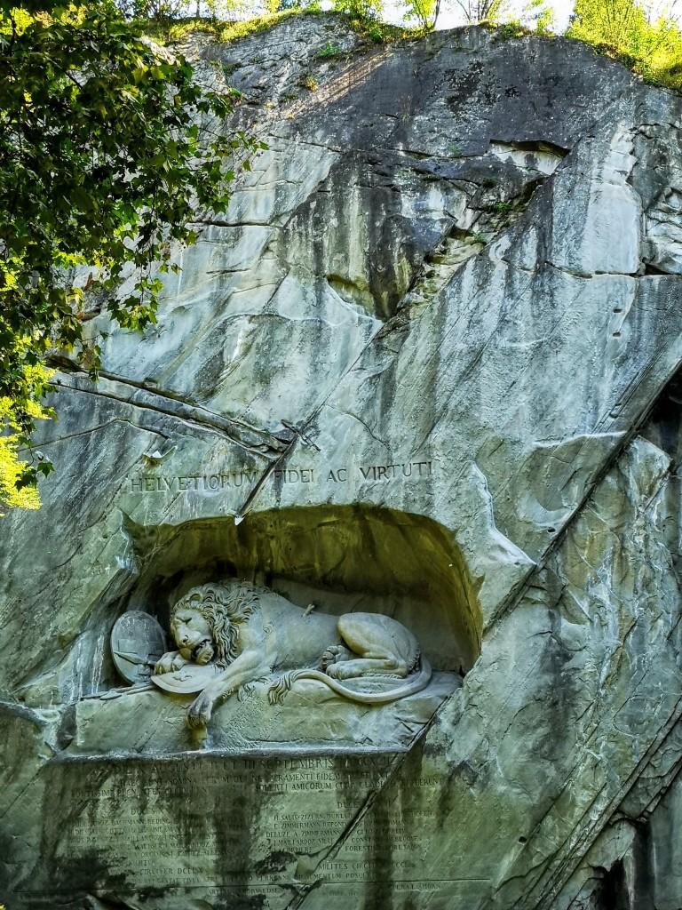 Zdjęcia: Luzern , Ranny lew , SZWAJCARIA