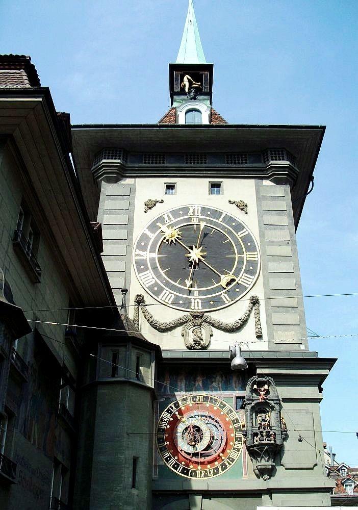 Zdjęcia: Kornhausplatz, Berno, Wieża z XIII wieku z zegarem, SZWAJCARIA