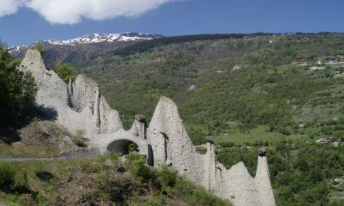 Zdjecie SZWAJCARIA / Valais / Euseigne / Erdpiramiden