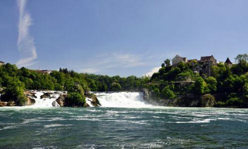 Zdjecie SZWAJCARIA / Szafuza, pn. Szwajcaria / Wodospad na renie w pobliżu Neuhausen / Szwajcarski cud natury