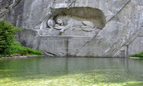 SZWAJCARIA / Kanton Lucerna / Lucerna / Pomnik Lwa Lucerny