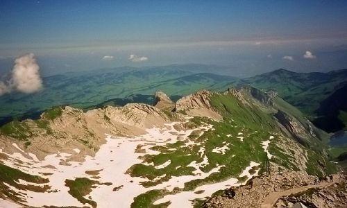 Zdjecie SZWAJCARIA / Alpy Zachodnie / Santis / Widok ze szczytu