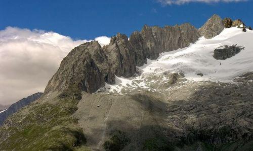 SZWAJCARIA / Valais   / okolice lodowca Aletsch / Grzebień szytów