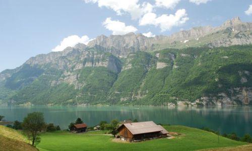 Zdjecie SZWAJCARIA / St. Gallen / Jezioro Wallensee / Jezioro Wallensee