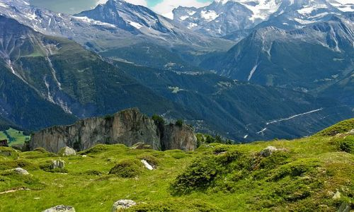 SZWAJCARIA / Valais / okolice lodowca Aletsch / Widoki wokół lodowca Aletsch