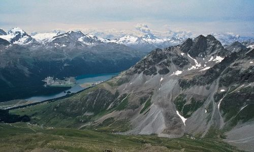 Zdjecie SZWAJCARIA / - / St. Moritz / Widok ze szczytu Piz Nair