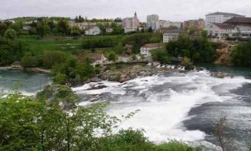 Zdjęcie SZWAJCARIA / - / Schaffhausen Rheinfall  / Wodospady na Renie