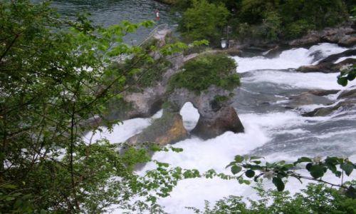 Zdjęcie SZWAJCARIA / - / Schaffhausen Rheinfall  / Wodospad na Renie 2