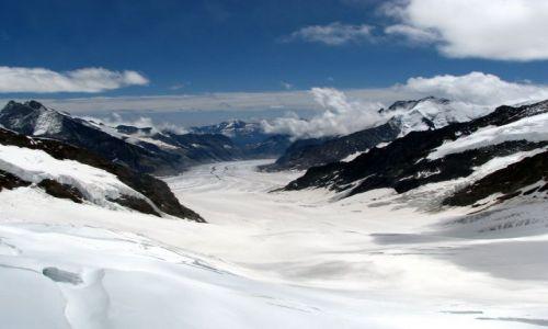 Zdjecie SZWAJCARIA / Alpy / Alpy Berneńskie / Widok z Jungfra