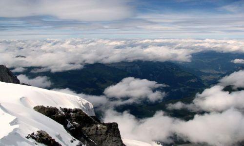 Zdjęcie SZWAJCARIA / Alpy Berneńskie / Jungfraujoch / Interlaken - widok z Jungfraujoch
