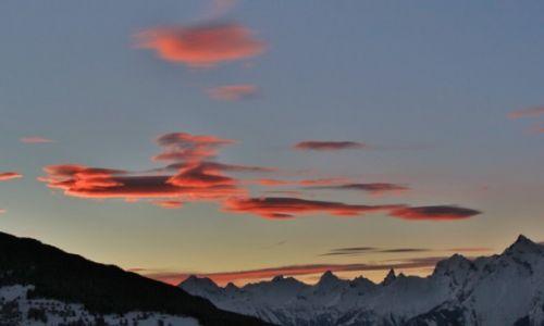 Zdjęcie SZWAJCARIA / Valais / Dolina  Herens  / Zachod