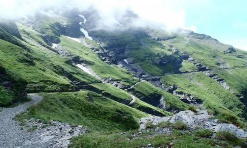Zdjęcie SZWAJCARIA / Vaud / Javern / Poszatkowane zbocza w drodze na Rionde