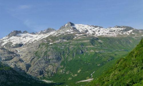 SZWAJCARIA / -Szwajcaria / za przełęczą Furka Pass / cała trasa z Furka Pass