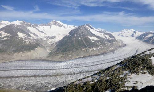 Zdjęcie SZWAJCARIA / -Szwajcaria / Eggishorn ponad 30000mnpm / Aletsch-jeden z najpiekniejszych i najdłuższych  lodowców w Europie