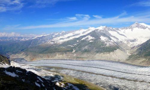 Zdjęcie SZWAJCARIA / -Szwajcaria / Eggishorn ponad 30000mnpm / końca nie widać... lodowiec Aletsch