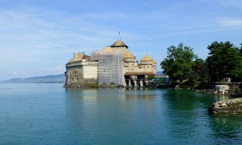 Zdjęcie SZWAJCARIA / Vaud / Montreux-Jezioro Genewskie / Zamek Chillon- XIII wiek