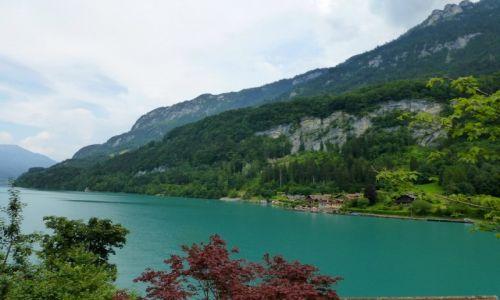 Zdjecie SZWAJCARIA / okolice Interlaken / Iseltwald / szmaragdowa woda jeziora Brienzer