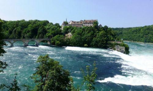 Zdjecie SZWAJCARIA / kanton Szafuza / okolice Schaffhausen / zamek Laufen nad Rhine Falls
