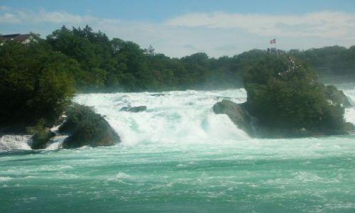 Zdjecie SZWAJCARIA / -kanton aagau / neuhausen / najwiekszy wodospad w europie