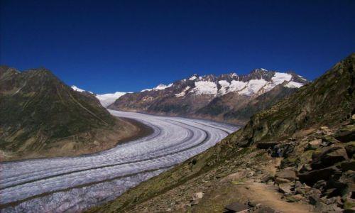 SZWAJCARIA / Alpy szwajc. / Aletschgletscher / ale slizgawka