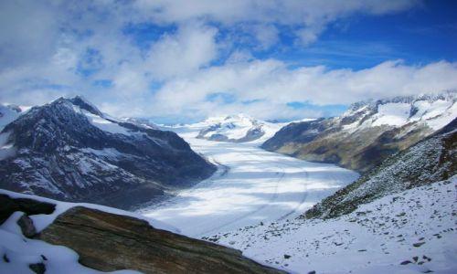 Zdjecie SZWAJCARIA / brak / eggishorn / no i juz lodowiec-aletschgletscher-eggishorn