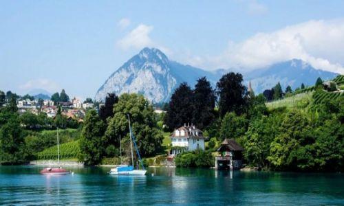 Zdj�cie SZWAJCARIA / kanton Berno / Thun / Jezioro Thun