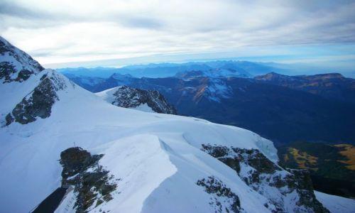 Zdjęcie SZWAJCARIA / Alpy szwajc. / szczyt jungfraujoch / widok z jungfraujoch