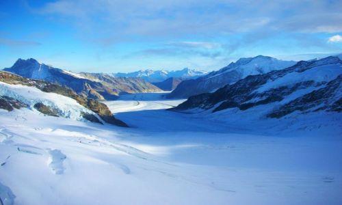 Zdjęcie SZWAJCARIA / Alpy szwajc. / szczyt jungfraujoch / widok na lodowiec aletsch