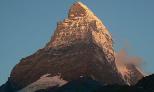 Zdj�cie SZWAJCARIA / Alpy Walijskie / Alpy Walijskie / Wsch�d s�onca na Matterhorn