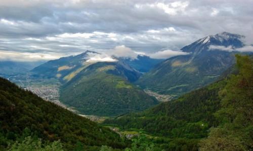 Zdjecie SZWAJCARIA / Alpy Pennińskie / Martigny / Dolina Rodanu