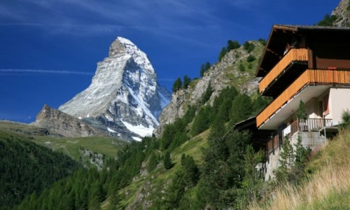 Zdjecie SZWAJCARIA / Valais / Zermatt / Widoczek z balk