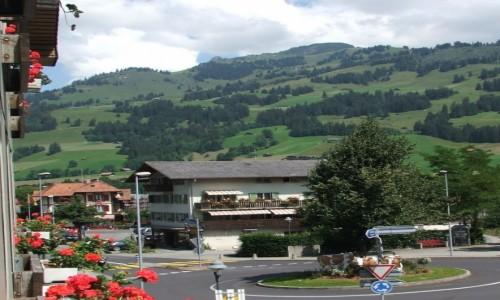 Zdjecie SZWAJCARIA / kanton Berno / Zweisimmen / Widok z okna ho