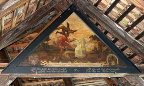 Zdjęcie SZWAJCARIA / Kanton Lucerna / Lucerna / Obraz z Mostu Kaplicznego
