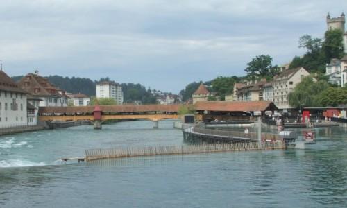 Zdjęcie SZWAJCARIA / Kanton Lucerna / Lucerna / Jaz na rzece Reuss