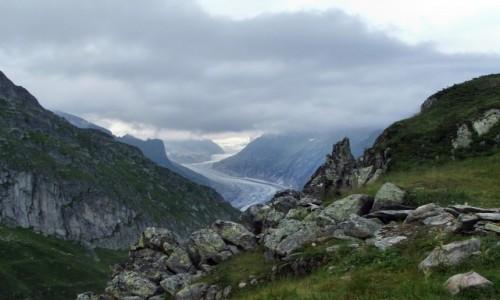 Zdjęcie SZWAJCARIA / Alpy Berneńskie / Bettmerhorn / Lodowiec Aletsch
