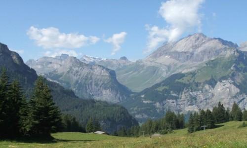 Zdjęcie SZWAJCARIA / Oberland Berneński / Okolice Kandersteg     / Alpejski widok
